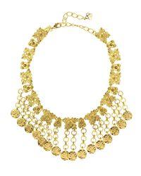 Oscar de la Renta - Metallic Hammered Coin Charm Necklace - Lyst