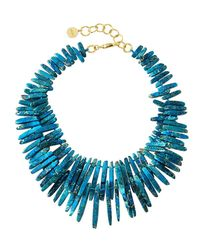 Nest - Blue Jasper Spike Beaded Necklace - Lyst