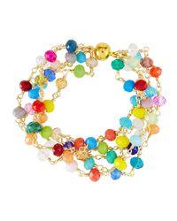 Panacea - Blue Multicolor Crystal Bracelet - Lyst