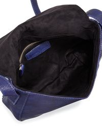 Neiman Marcus Multicolor Woven Reptile Faux-leather Saddle Bag