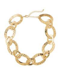 Panacea Metallic Textured-link Necklace