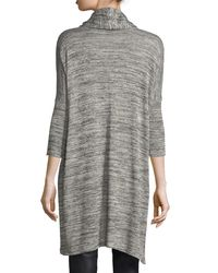 Grayse - Metallic 3/4-sleeve Heathered Open-front Cardigan - Lyst