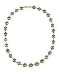 Belpearl - Metallic 14k Tahitian Pearl Necklace - Lyst