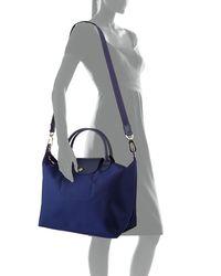 Longchamp - Blue Le Pliage Néo Medium Handbag With Strap - Lyst