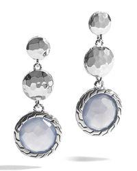 John Hardy - Classic Chain Blue Chalcedony Drop Earrings - Lyst