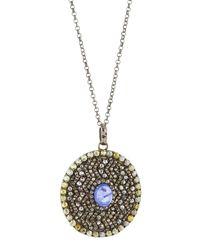 Bavna - Pavé Diamond & Purple Tanzanite Pendant Necklace - Lyst