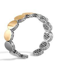 John Hardy Metallic Dot Silver & Gold-plate Flex Cuff 13.5mm