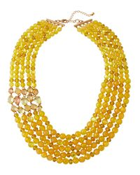 Lydell NYC - Yellow Multi-strand Beaded Necklace - Lyst