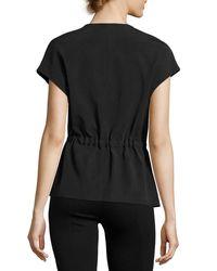 Vince - Black Asymmetric Zip-front Jacket - Lyst