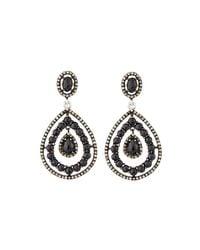 Bavna - Black Spinel & Diamond Drop Earrings - Lyst
