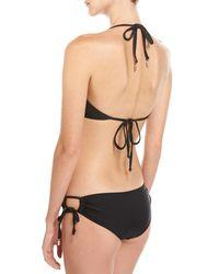 Suboo - Black Gathered Pineapple Triangle Swim Set - Lyst