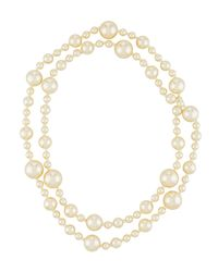 Kenneth Jay Lane - White Long Simulated Pearl Necklace - Lyst