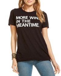 Chaser - Black More Wine Time Short-sleeve Tee - Lyst