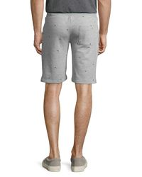 Sovereign Code - Gray Men's Walls Embroidered Terry Shorts for Men - Lyst