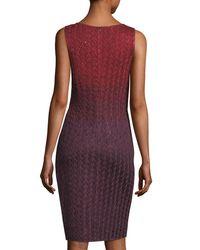 St. John Red Riviera Knit V-neck Dress