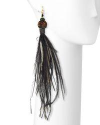 Nakamol - Green Long Feather Dangle Earrings - Lyst