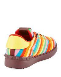 Valentino - Multicolor Men's Striped Fabric Sneaker for Men - Lyst