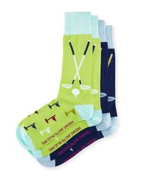 "Per Pedes - Green Two-pair ""tee Time"" Sock Set for Men - Lyst"