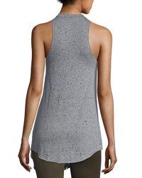 Koral Activewear Gray Rep Sleeveless Tunic Top