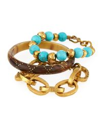 Ashley Pittman - Multicolor Three-piece Bangle/bracelet Set - Lyst