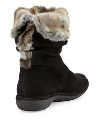 Stuart Weitzman - Black Coinage Roll-down Ankle Boot - Lyst
