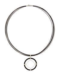 Alor - Metallic Noir Cable & Diamond Kite Pendant Necklace - Lyst