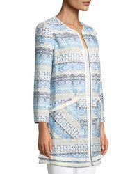 Catherine Malandrino Blue Pip Jacket