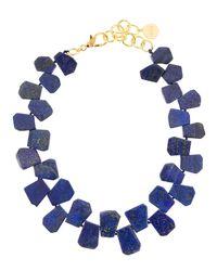 Nest - Blue Lapis Statement Necklace - Lyst