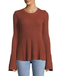 Tularosa - Orange Courage Bell-sleeve Fit-&-flare Sweater - Lyst