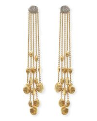 Marco Bicego - Metallic 18k Gold Diamond Siviglia Drop Earrings - Lyst