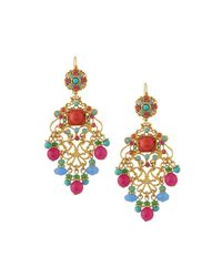 Jose & Maria Barrera - Multicolor Filigree Earrings - Lyst