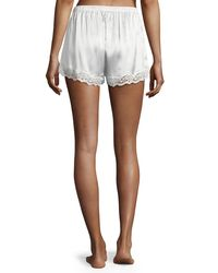 Neiman Marcus Multicolor Lace-trimmed Silk Shorts