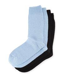 Neiman Marcus Blue Two-pair Cashmere-blend Socks for men