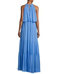 French Connection - Blue Midsummer Dream Halter Maxi Dress - Lyst
