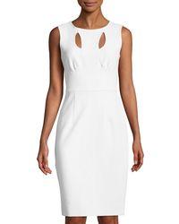 MILLY - White Cressida Cutout Sleeveless Dress - Lyst