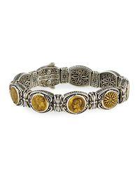 Konstantino Metallic Silver And Bronze Coin Bracelet