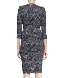 Alexander McQueen - Black Zip-hem Printed Sheath Dress - Lyst