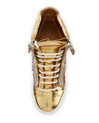Giuseppe Zanotti - Spiked Metallic Wedge Sneaker - Lyst