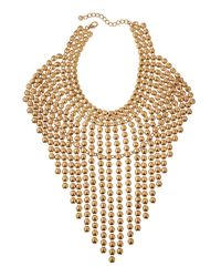 Lydell NYC | Metallic Oversized Statement Bib Necklace | Lyst