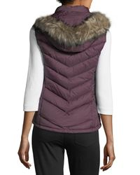MICHAEL Michael Kors Purple Faux-fur-trim Hooded Down Vest
