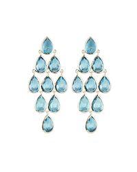 Ippolita - 925 Rock Candy Teardrop Cascade Earrings In London Blue Topaz - Lyst