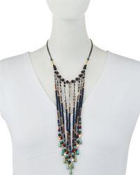 Nakamol - Blue Crystal & Stone Chain Fringe Bib Necklace - Lyst