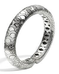 John Hardy Metallic Legends Naga Lava Slim Flex Cuff With Black Sapphire