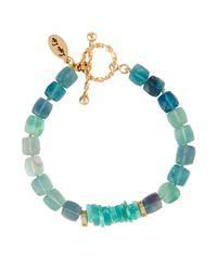 Lapis Lois | Blue Faceted Fluorite & Amazonite Cube Bracelet | Lyst