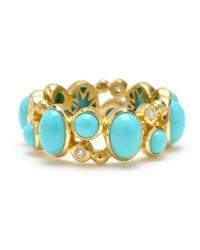 Elizabeth Showers - Blue 18k Madeleine Turquoise & Diamond Band Ring - Lyst