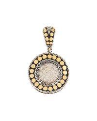 John Hardy Metallic Dot Round Diamond Pendant