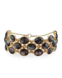 Lydell NYC - Multicolor Simulated Abalone Statement Choker Necklace - Lyst