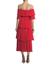 Haute Rogue | Red Ellen Pleated Popover Dress | Lyst