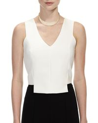 Lydell NYC - White Simulated Mother-of-pearl Collar Necklace - Lyst