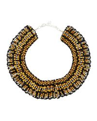 Nakamol | Black Beaded Statement Collar Necklace | Lyst